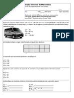 Prova matemática 2º bim 8ºII e III