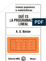 A. S. Bársov.- Qué es la programación lineal