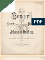 Brahms Clarinet Sonata 1