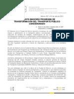 PRESENTA MANCERA PROGRAMA DE TRANSFORMACIÓN DEL TRANSPORTE PÚBLICO CONCESIONADO