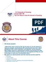 2012 UoS CED 148 Top Ten Ways to Use the Internet in Scouting