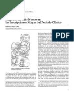 Articulo Registros De Año Nuevo En Las Inscripciones Mayas Del Periodo Clasico.