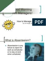 Managing Absenteeism- Slides