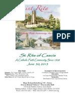 Saint Rita Parish Bulletin 6/30/2013