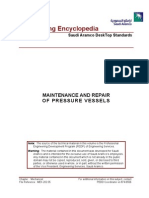 Maintenanc and Repair of Pressure Vessels