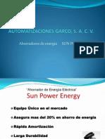 Pres. Ahorradores de Energia SUN POWER
