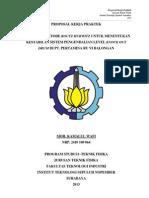 Proposal Kerja Praktek - Wafi (Pertamina VI Balongan)