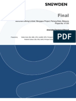 2012.01.26 Snowden Amended Technical Report Mengapur P