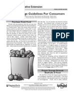 Food Storage Guidelines for Consumers