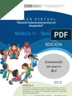 Mód. II Sesión 3 Estrategias de atención y partc. de la fam. en la educ. inclusiva