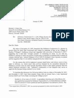 Question C--Attorney Letter Regarding Robcon Liens for Lake Village