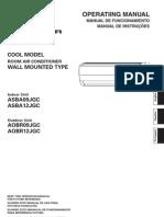 Manual Ar Codicionado - Om Asba09 12jgc 9317433037 Ptbx