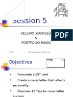 Session 5 Selling Yourself & Portfolio Magic 2