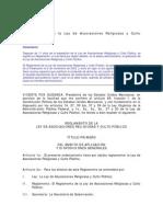 Reglamento_Ley Aasociaciones Religiosas y Culto Publico