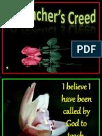 A Teacher's Creed