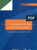 Balance Politicas Sociales