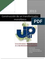 Construcción transformador monofásico