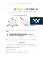 Solucion de Triangulos Oblicuangulos