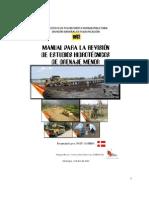 MTI-Manual para  la revisión de estudios hidrotécnicos de drenaje menor