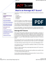 Average ACT Score - American College Testing Average Scores