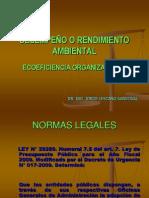 DESEMPEÑO O RENDIMIENTO AMBIENTAL