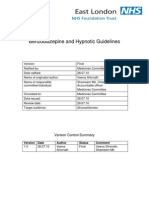 Benzodiazepine and Hypnotic Guidelines (V1.0 July 2010)