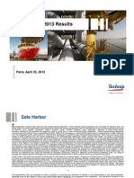 Technip 1Q13 Investor Presentation