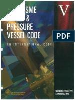 ASME CODE v - Non Destructive Examination 2004