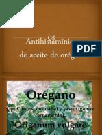 Antihistiaminico de Aceite de Oregano