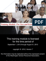 What Every Employee Must Be Told Training Module 2012-2013
