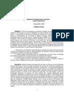 Derecho International Privado - Casos prácticos