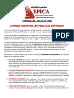Finanzas Pymes Fracaso Quiebra Empresarial Negocios