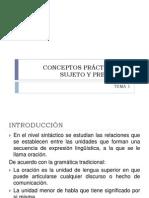 CONCEPTOS PRÁCTICOS DE SUJETO Y PREDICADO 2010