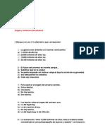 Evaluación ORIGEN DEL UNIVERSO