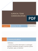 Surgical Team Communication - Perspect Management Consulting