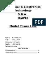 Electrical SBA (Cape) Transmission power line Test