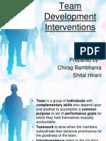 Team Development interventions.ppt