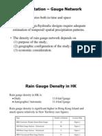Presentation - Precipitation - Rain Guage Network