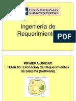 Tema 05 - Elicitiación de Req de Sistema (Software)