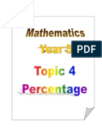 Topic 4 - Percentage