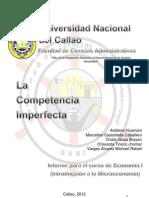 Monografia de La Competencia Imperfecta