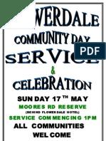 Service & Celebration Flyer