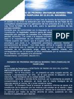 Navarra - Adopcion de Una Pareja Homosexual