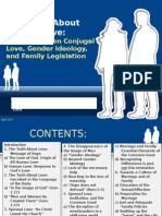 The Truth About Human Love - Orientations on Conjugal Love, Gender Ideology and Family Legislation
