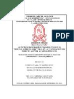 La incidencia de los partidos políticos y el Tribunal Supremo Electoral en la vulneración del derecho a optar a cargos públicos.pdf