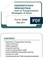 Uthm 6 - Note Lecture Mka 2133 - Transportation Forecasting