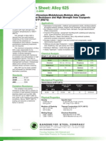 Alloy 625 Spec Sheet