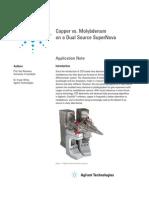 Copper vs Molybdenum on a Dual Source SuperNova 5990-9884EN_LO