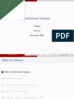 Study Material on DiscriminantAnalysis