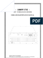 BSI 1000-Watt FM RF Amplifier Manual ARF1000 WW